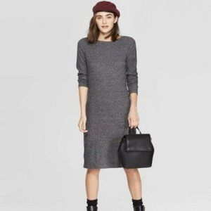 A New Day Ribbed Crewneck Knit Dress Size XS NEW